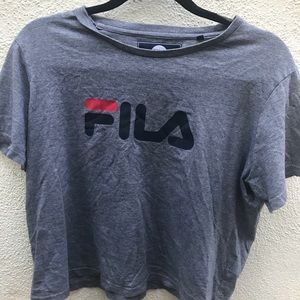 Grey FILA Top